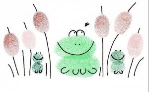 dibujo con tus huellas dactilares